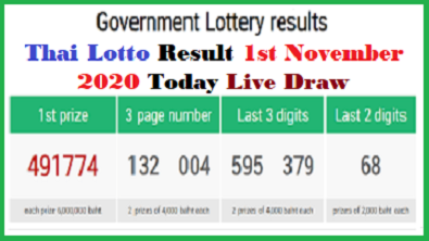 Thai Lottery Result Today *LIVE* 2020