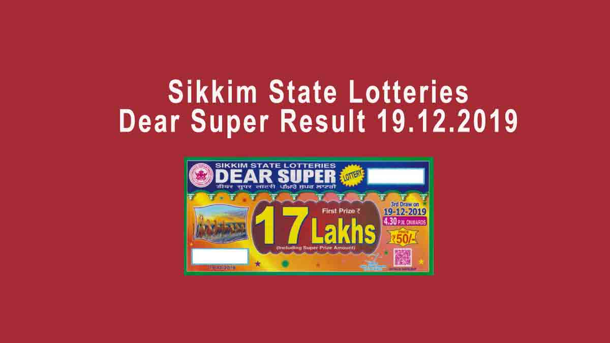 New Sikkim Super Lottery Result 6.30 Pm Today Live