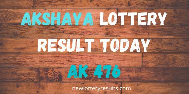 akshaya 476 lottery result today